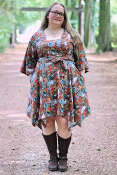 Megan Blue Fabrics Halla Kimono Dress
