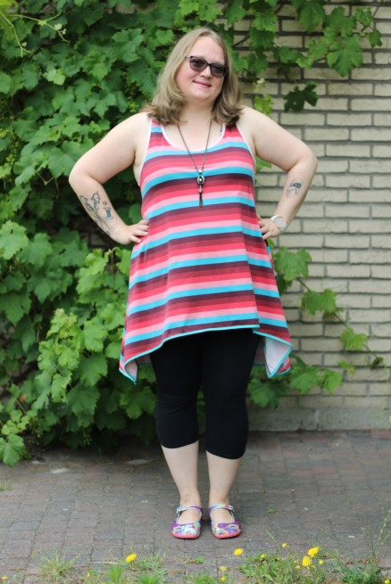 Tank top/tunic with a twist Made By Runi